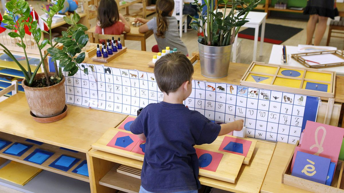 Une classe Montessori