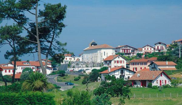 Des maisons typiques du Pays Basque à Biarritz